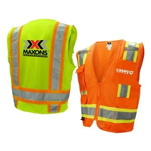 Class 2 Safety Vest w/Extra Pockets