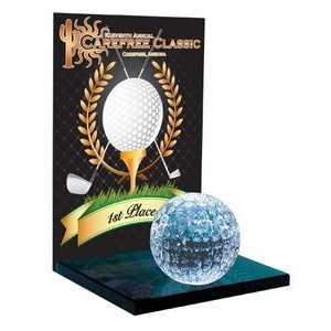"7"" Crystal Golf Award"