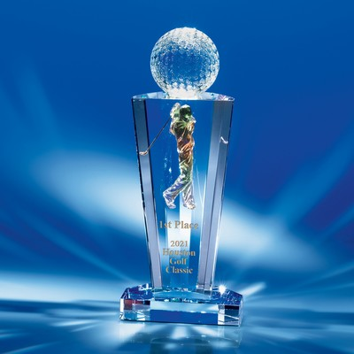 The Perfect Drive Crystal Golf Award