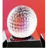 Glass Golf Sports Ball Award