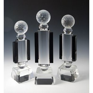 "Golf Optical Crystal Award/Trophy 12.5""H"