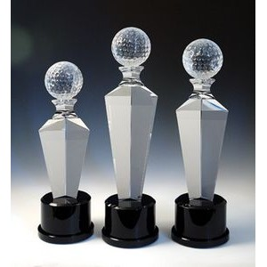 "Golf Optical Crystal Award/Trophy 13""H"