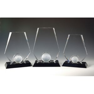 "Premier Golf Optical Crystal Award/Trophy 9""H"