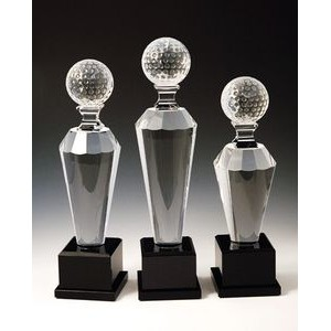"Golf Optical Crystal Award/Trophy 11""H"