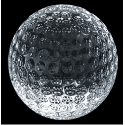 Crystal Golf Ball Paperweight
