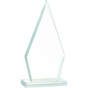 "7 1/2"" Triangle Jade Glass Award"