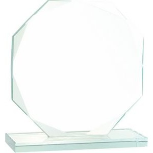 "6 1/2"" Octagon Jade Glass Award"