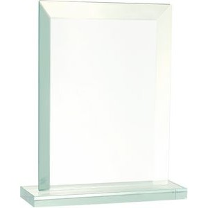 "8 1/2"" Rectangle Jade Glass Award"