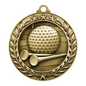 "1.75"" Wreath Award Medals (Golf)"