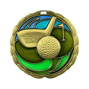 "Golf Die Cast Suncatcher Medal (2.5"")"