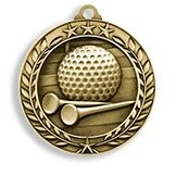 "2.75"" Wreath Award Medals (Golf)"