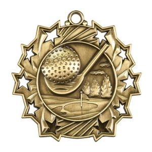 "2.25"" Ten Star Medals (Golf)"