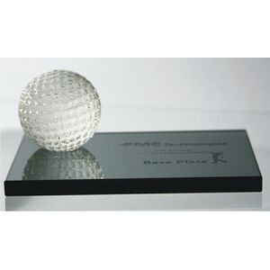 Golf Ball on Black Base Award