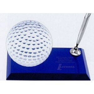 "Golf Desk Award With Pen - 6""x3""x3-1/2"""