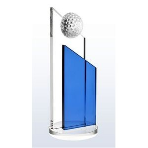 "Crystal Blue Success Golf Award, Small (8""H)"
