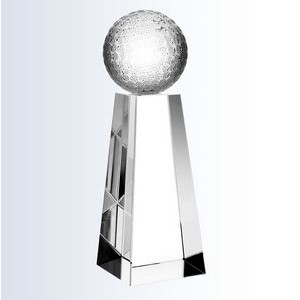 "Crystal Championship Golf Trophy, Large (2-3/8""x8"")"