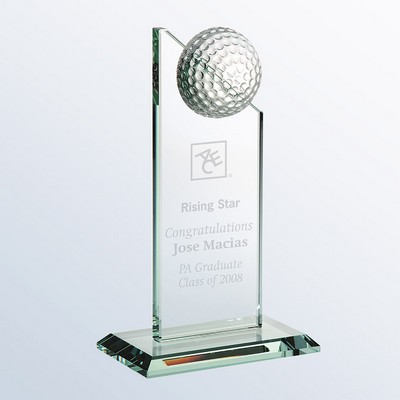 Jade Glass Golf Pinnacle Award, Small (6-1/2