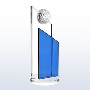 "Crystal Blue Success Golf Award, Large (10""H)"