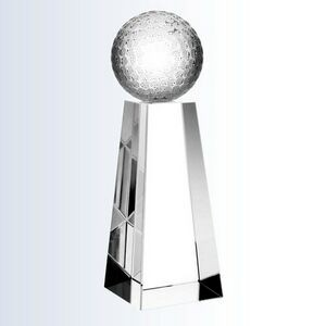 "Crystal Championship Golf Trophy, Medium (2-3/8""x7"")"