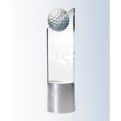 Starphire Glass Golf Pinnacle on Aluminum Base Award (3