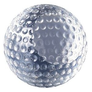 Etched Glass Golf Ball Paperweight Award