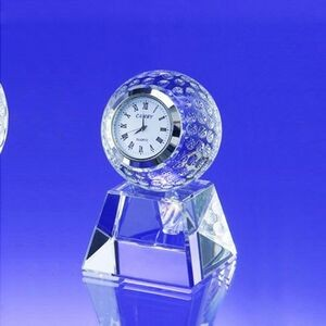 "3 3/4"" Golf Ball Clock w/Base"