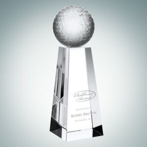 Championship Golf Optical Crystal Award (Small)