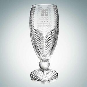 Triumph Golf Lead Crystal Vase