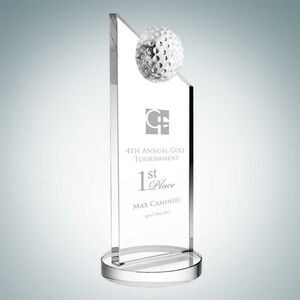 Apex Golf Optical Crystal Award (Medium)