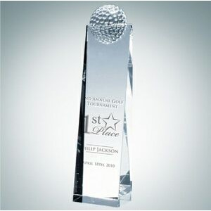 Golf Optical Crystal Tower Award (Medium)
