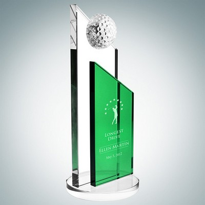 Green Success Golf Trophy (Large)