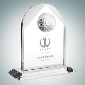 Distinguished Golf Arch Optical Crystal Award (Medium)
