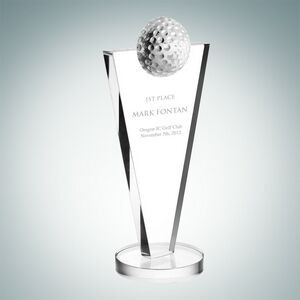 Success Golf Optical Crystal Award (Medium)