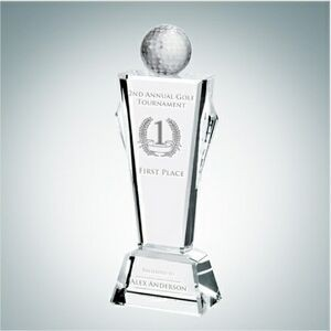 Golf Conqueror Optical Crystal Award