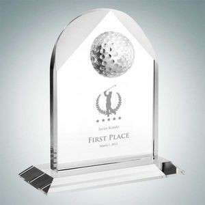 Distinguished Golf Arch Optical Crystal Award (Small)
