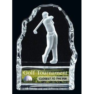 Male Golf Glass Iceberg Award (4.25 H)
