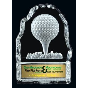 Golf Tee Glass Iceberg Award (4.25 H)